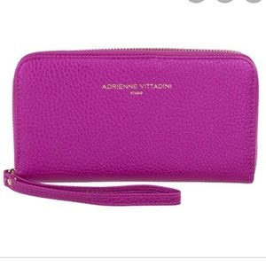 Adrienne Vittadini Pink Wallet Wristlet